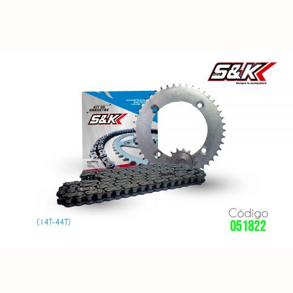 KIT ARRASTRE KLX 150(14T-44T) S&K